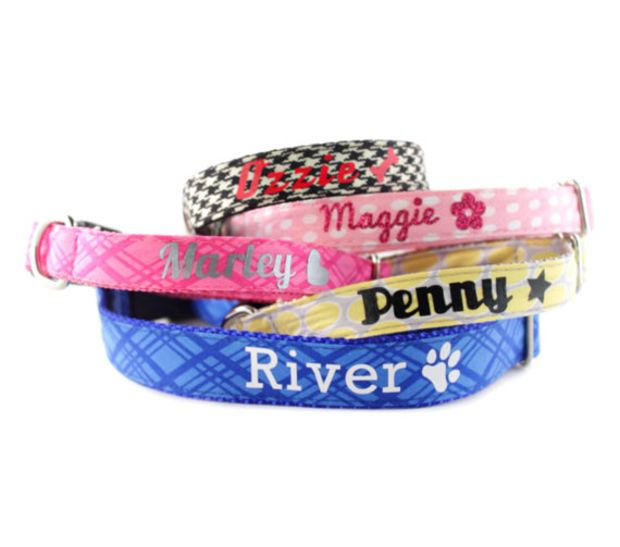 monogrammed dog collars. Personalized Dog Collar Add-on - Monogrammed With Name And Collars
