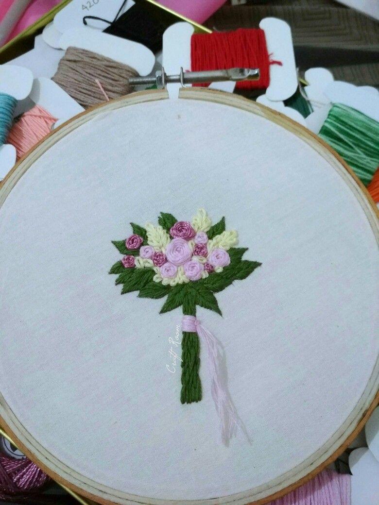 Flower bouquet hoop embroidery pinterest flower bouquets