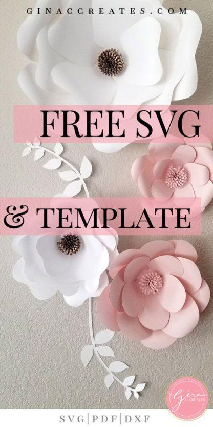 Free SVG & Printable Paper Flower Template #paperflowertutorial