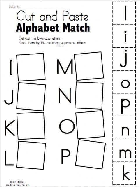 I-P Matching in 2020   Alphabet worksheets kindergarten ...