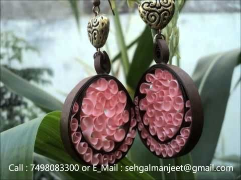 DIY How to make Paper Quilling Jewelry Set JK Arts 382 YouTube