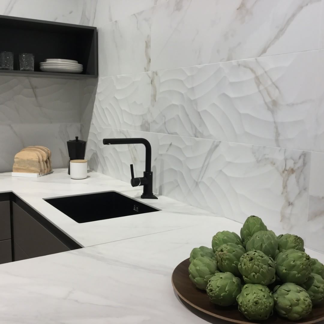 Visit our booth at @cevisama and enjoy beautiful little corners like this! ?  .  .  .  #Cevisama2018 #ceramics #tiles #instagood #potd #Valencia #Cevisama #interiordesign #homedecor #instatiles #collection #design #kitchen #marble #calacata