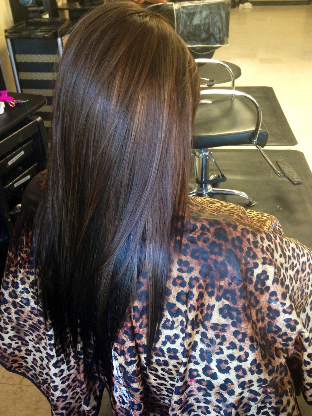 Black Underneath With Golden Brown And Carmel Highlights On Top Brunette Hair Color Hair Styles Long Hair Styles