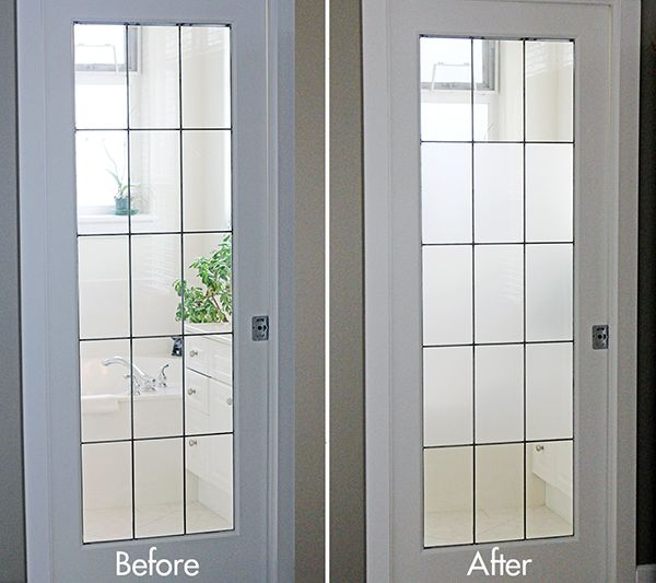 fe95febbeb5 DIY - Frosted Glass using Home Depot s Artscape Window Film- Full Tutorial  for Application