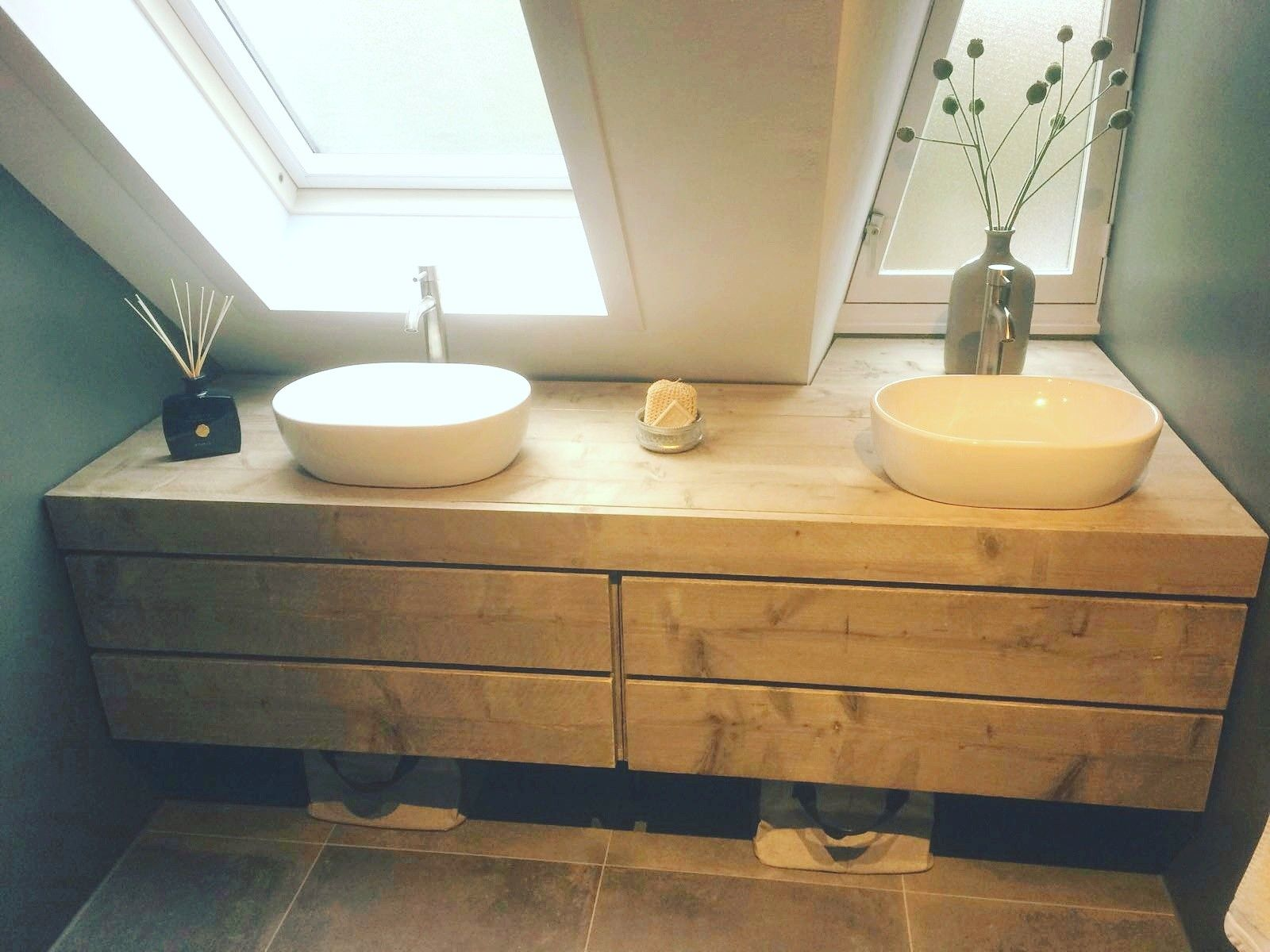 Badkamer Met Steigerhout : Nice steigerhout badkamer meubel fotos van badkamer stijl