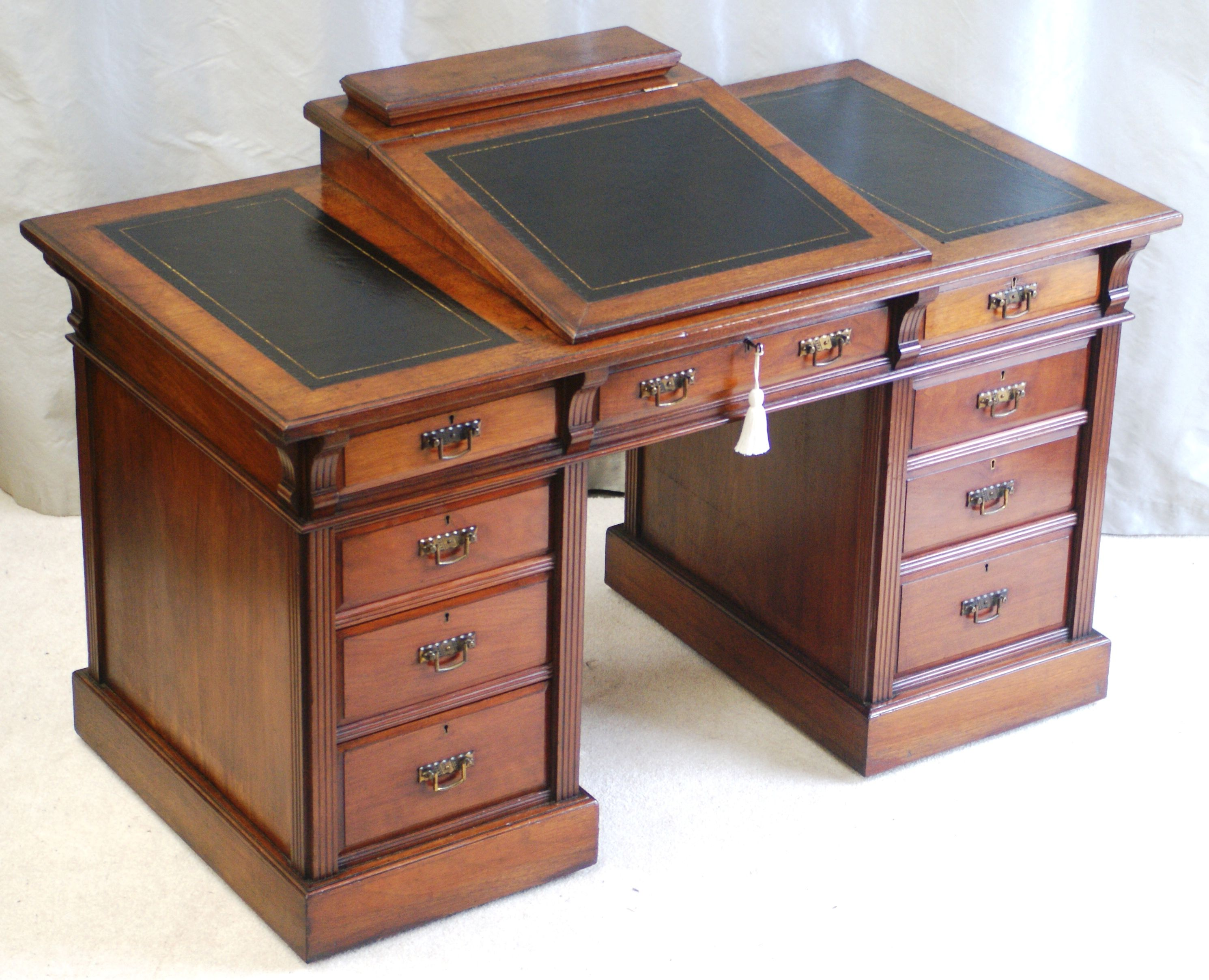 Fine Antique Dickens Writing Desk C 1890 By Bulstrode Of Cambridge
