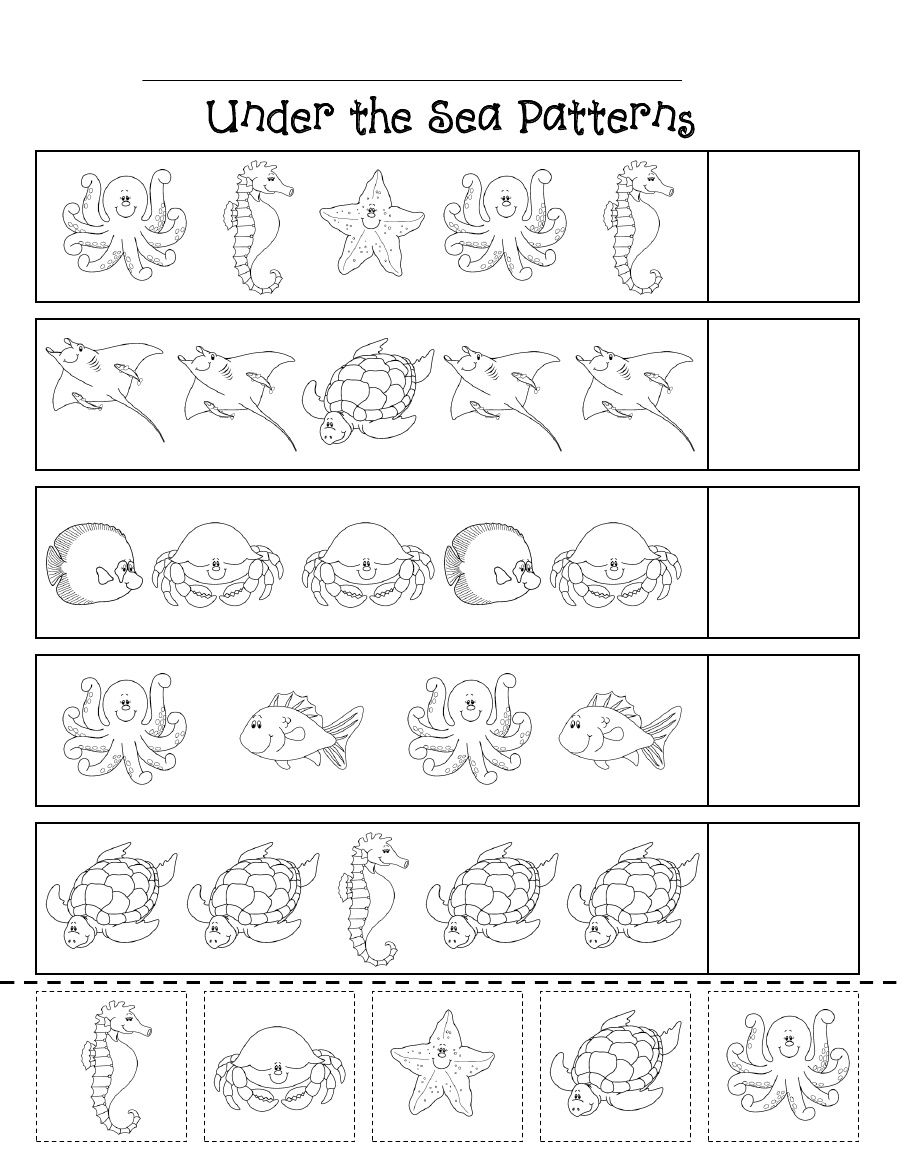 ocean patterns scribd ocean theme animal worksheets kindergarten worksheets preschool. Black Bedroom Furniture Sets. Home Design Ideas
