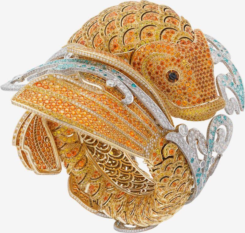 Jewelry News Network: Van Cleef & Arpels Used 8,000 Gems For Its Carpe Koï Watch Bracelet