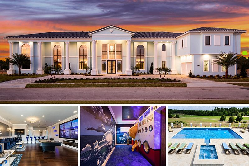 The Atlantis At Reunion 12 Bed 12 5 Baths 11 500 Sq Ft Game Room Elegant Bar Lounge Home Theater Purpose Vacation Home Rentals Vacation Vacation Home