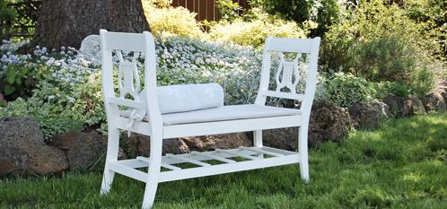 This French Style Bench Is Amazingly Made From Two Broken Chairs