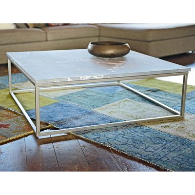 Click to zoomMarble top coffee table squarefurniture