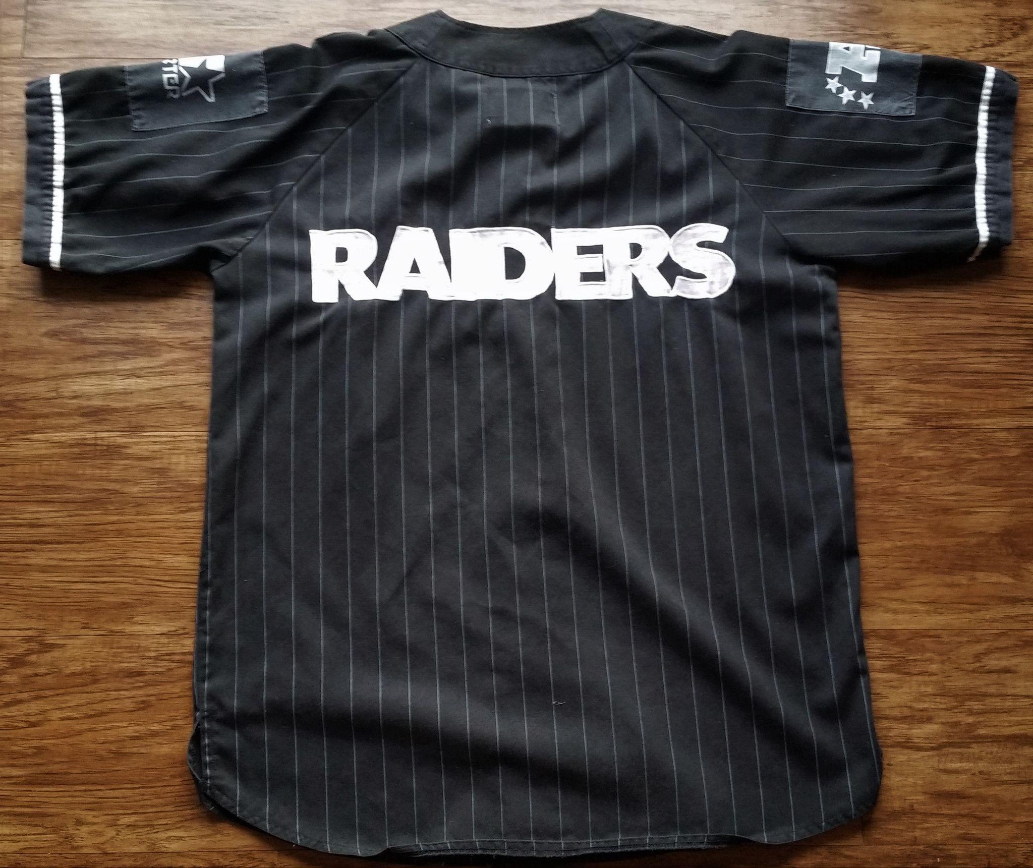 Los Angeles Raiders Starter Jersey Vintage Nfl Baseball Rare Pinstripe La Mens L