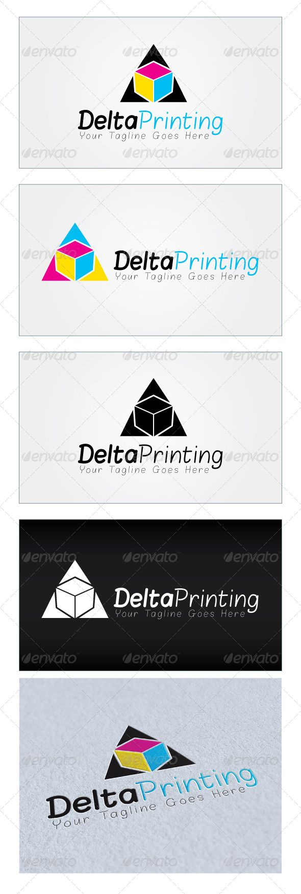 Delta Printing Logo Template GraphicRiver Re sizable