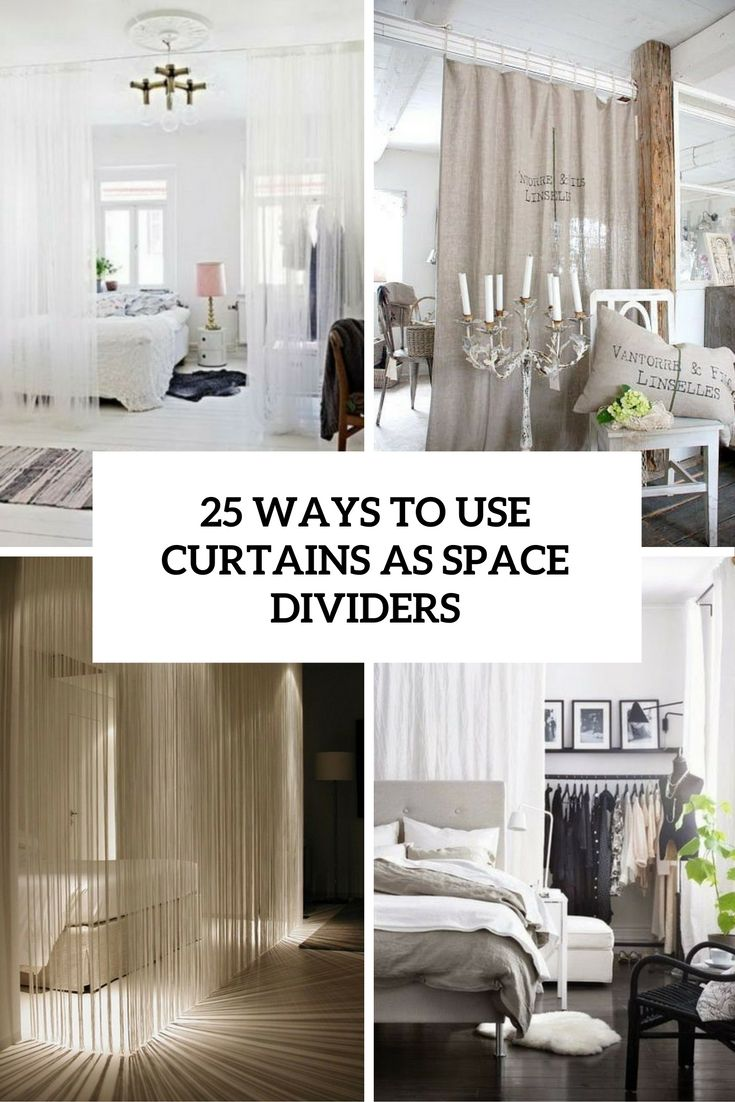 25 Ways To Use Curtains As Space Dividers (DigsDigs