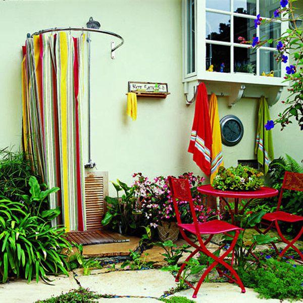 Wellness U0026 Spa » Die Dusche Für Den Garten U2013 Solar, Wie Wasserfall Und Mit