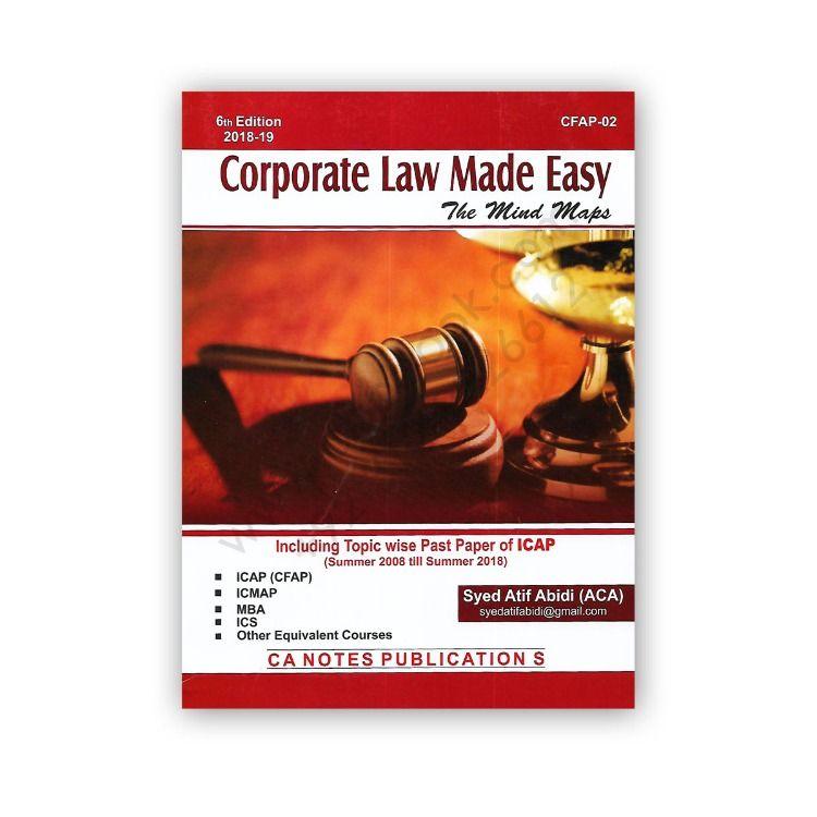 Ca Cfap 2 Corporate Laws By Atif Abidi 2019 20 7th Edition