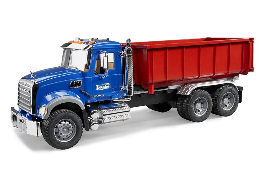 Bruder Toys Mack Granite With Roll Off Container 02822 Container Truck Toys For Boys Trucks