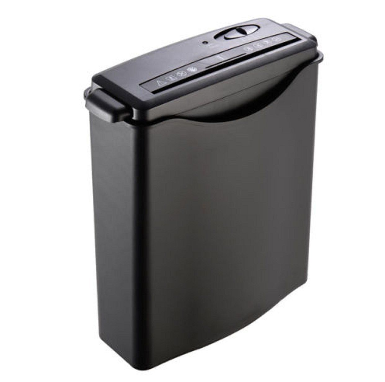 Ghp Black Solid Fireproof Abs Construction Home Office Paper Shredder W Basket