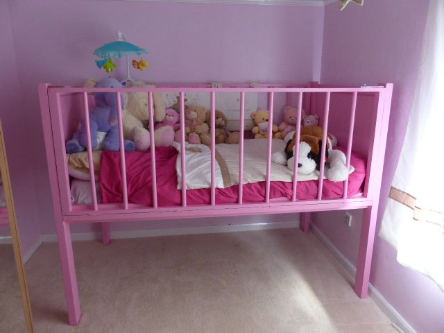 Adultbaby Crib Filled With Lots Of Stuffed Toys Just For