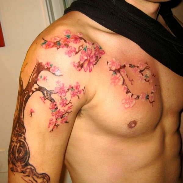 30 Artistic Cherry Blossom Tree Tattoo Slodive Cherry Tree Tattoos Cherry Blossom Tattoo Men Tree Tattoo