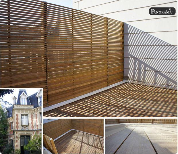 paris bois exotique paris hotel particulier 16 cumaru terrasses - terrasse sur pilotis metal