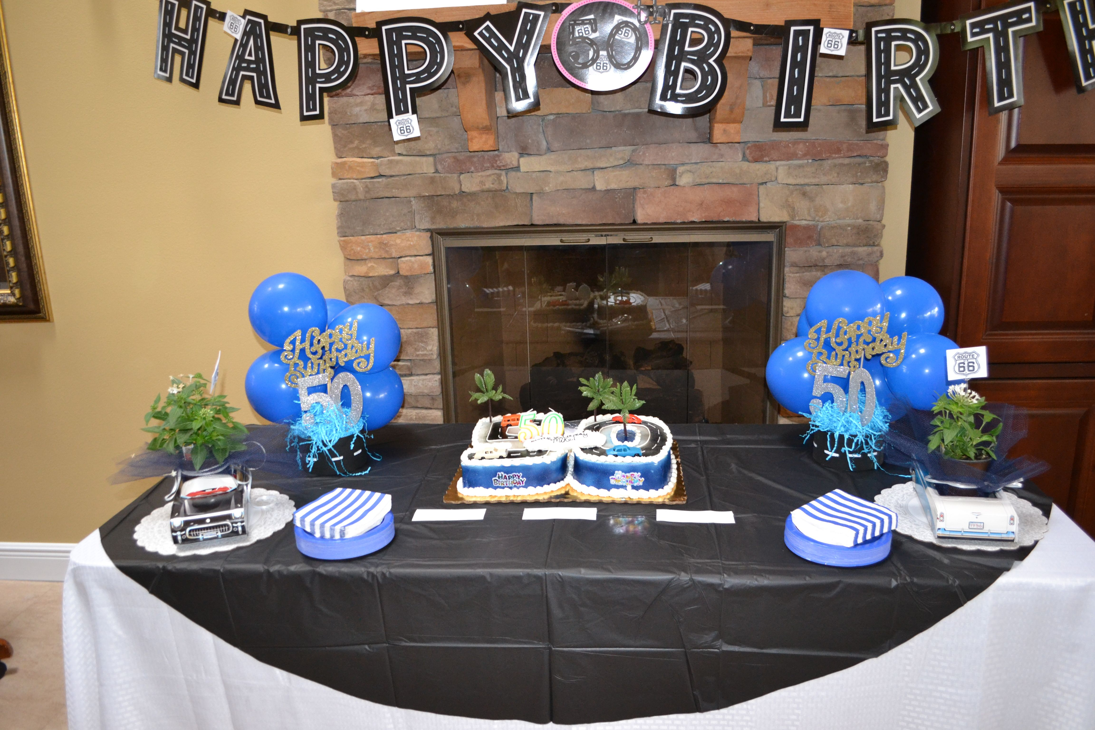 Cake Table Decor For A 50th Birthday Classic Car Birthday Party