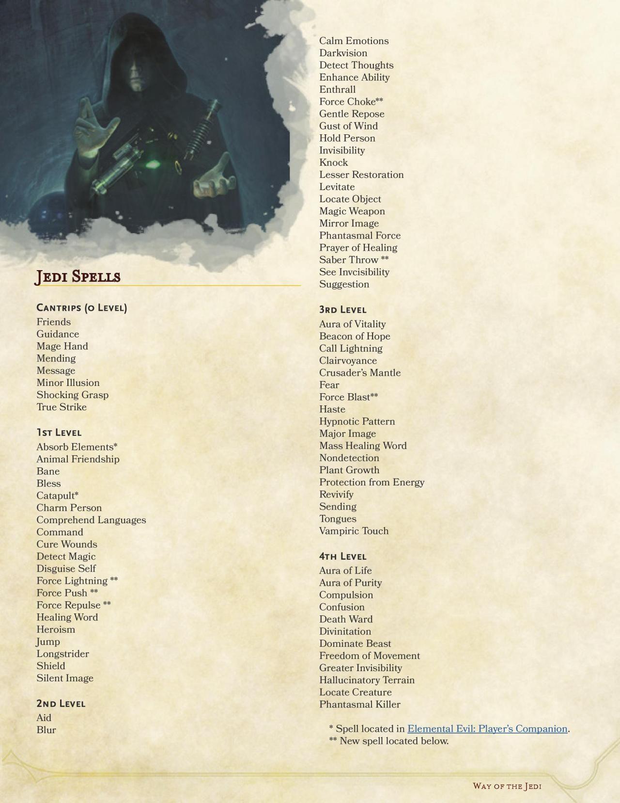 DnD 5e Homebrew — Way of the Jedi Monk by SpiketailDrake