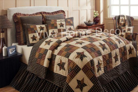 NEW VHC DAKOTA STAR PATCHWORK QUILTED STANDARD PILLOW SHAM SOUTHWESTERN RUSTIC