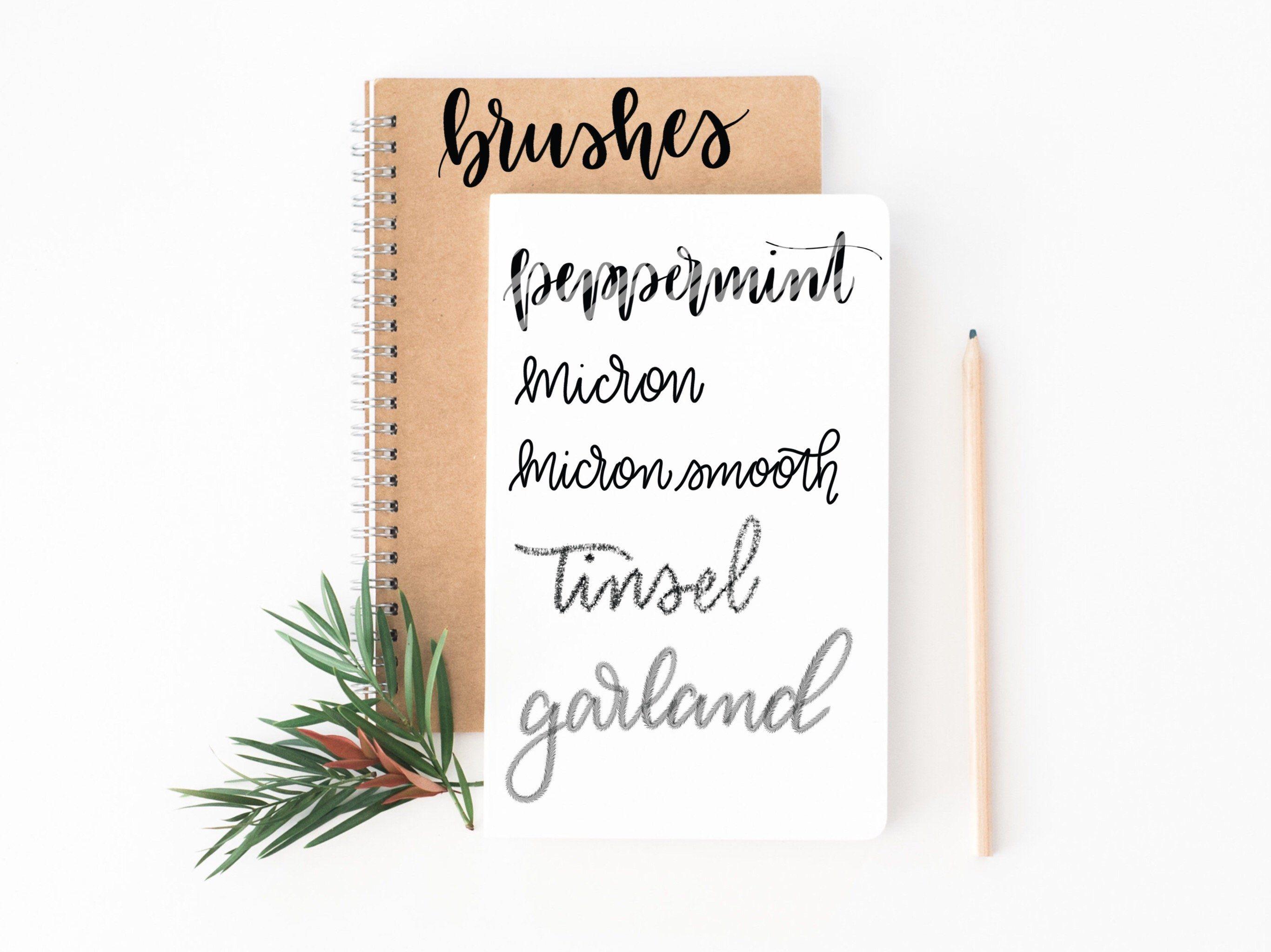 Procreate Christmas Bundle Procreate Bundle Christmas Ad Tinsel Garland Stocking Tree Christmas