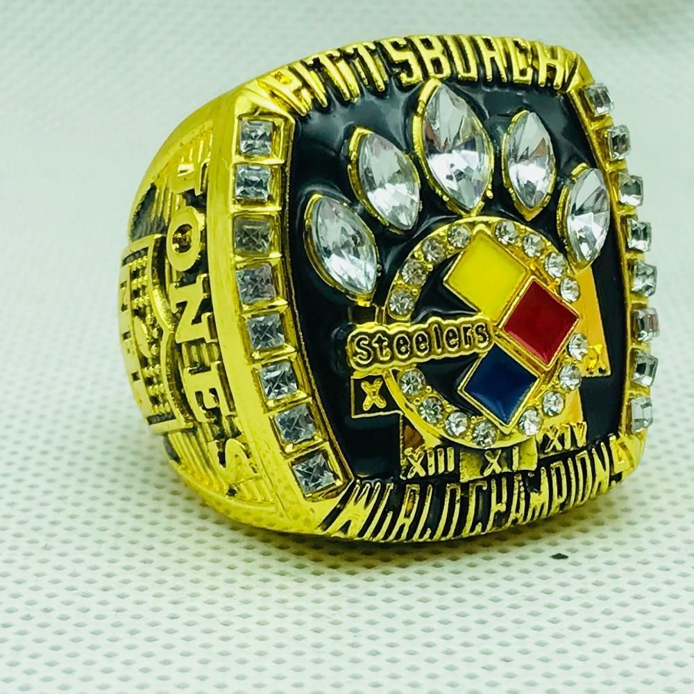 87c5f0605 NFL Football 2005  pittsburghsteelers Steelers  championship  rings Color  Gold – 4 Fan Shop