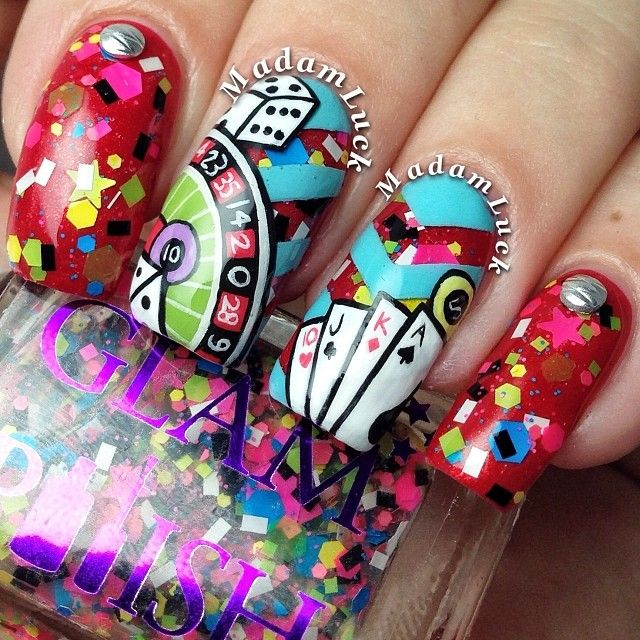 Casino Nails Nailart Nails Nail Art Pinterest