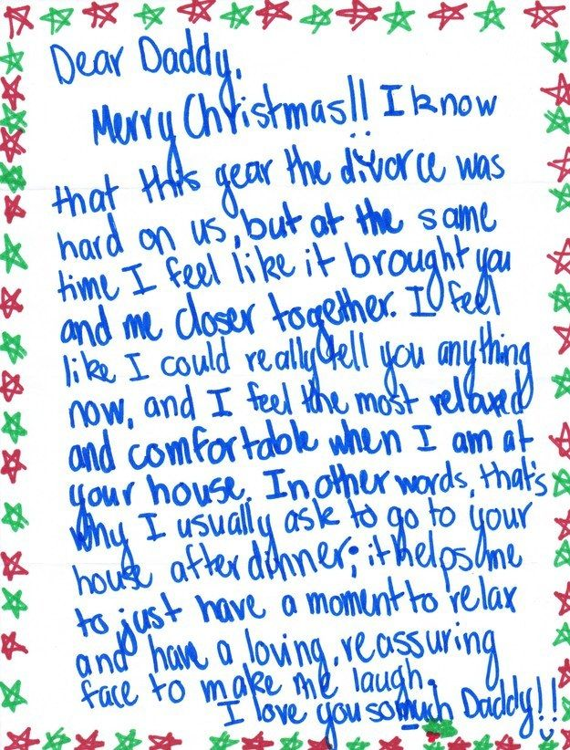 Teen Girls Christmas Note To Her Divorced Dad Will Make You Smile