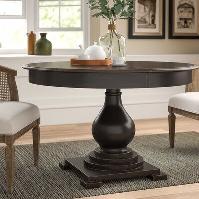 Darby Home Co Dalton Extendable Solid Wood Dining Table In 2020