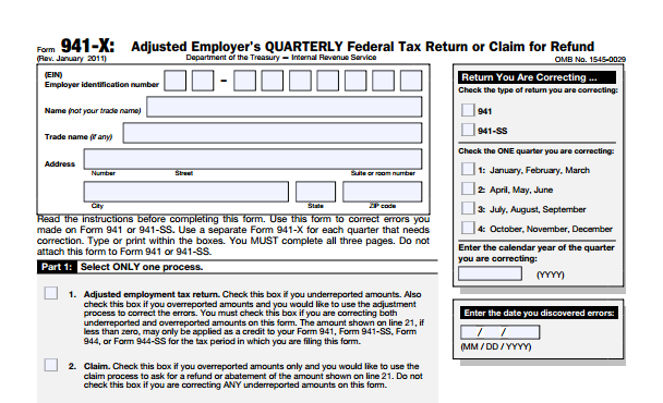 Irs Form  Late On Payroll Taxes Or Have A Payroll Tax Error