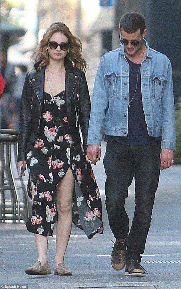 Lily James and beau Matt Smith enjoy a leisurely stroll in ...