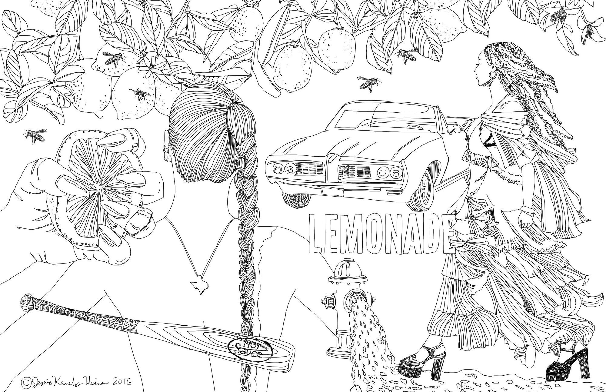 You Can Now Color In Scenes From Beyonce S Lemonade Coloring Books Coloring Pages Fashion Coloring Book