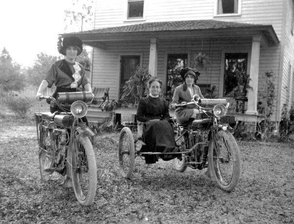 Three ladies on motorcycles – Volusia County, Florida