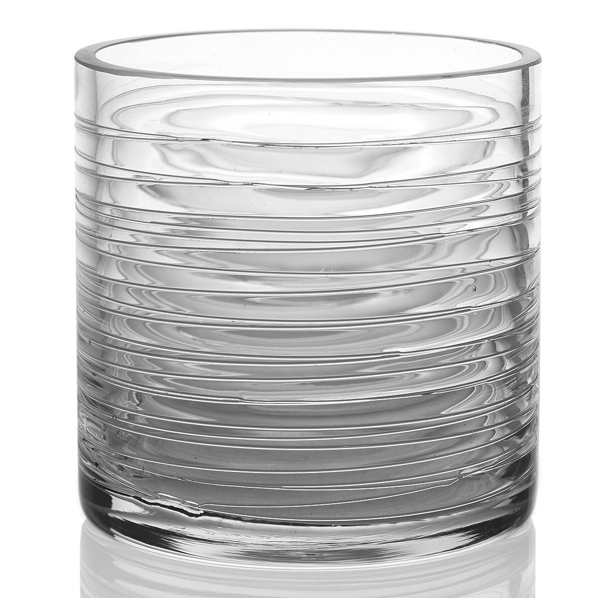 Clear Glass Composition Cylinder Floral Vase 5\