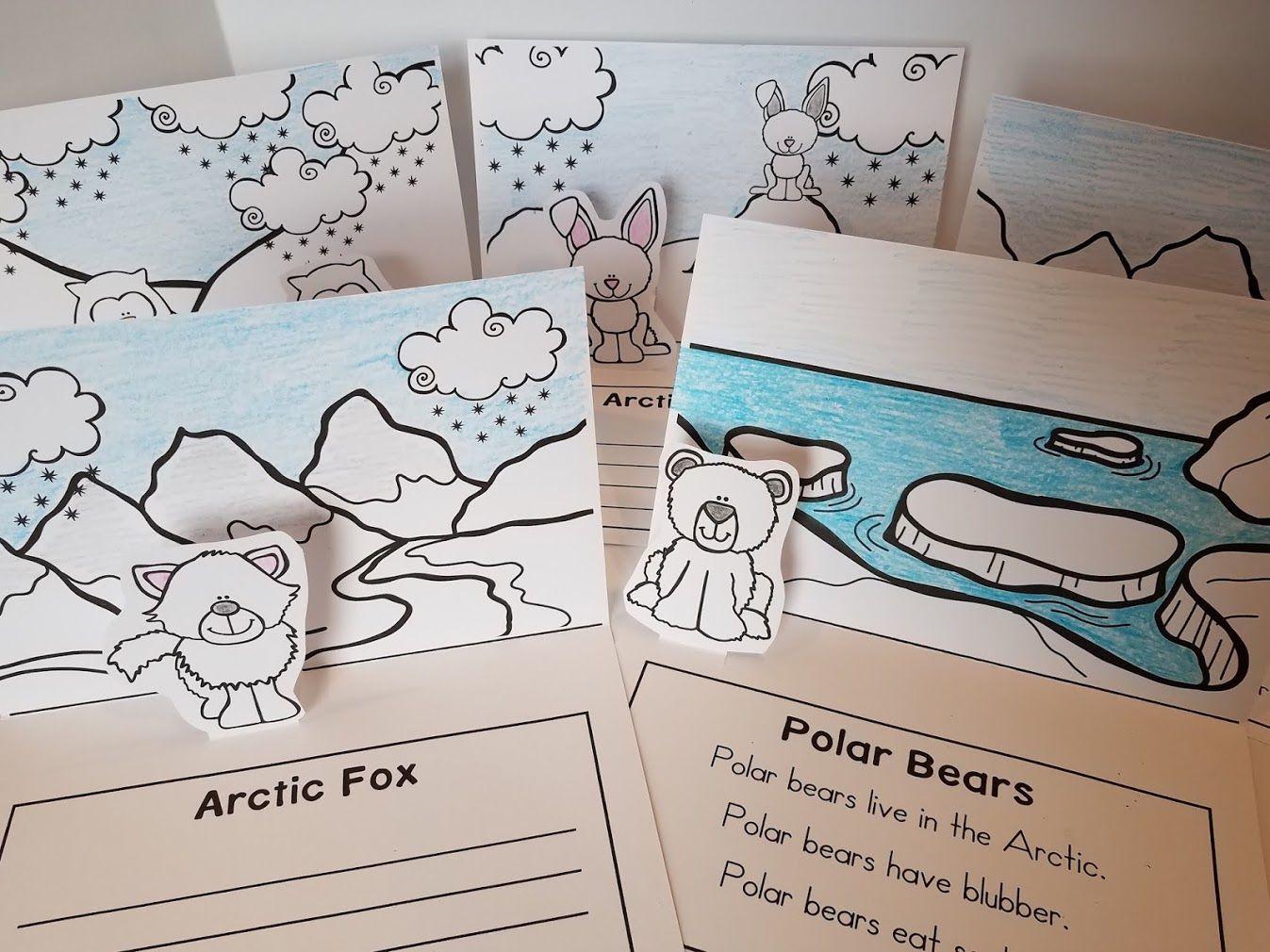 Arctic Animal Pop Up Cards Arctic Animals Rainbow Writing Jelly Bean Math Activities [ 1010 x 1347 Pixel ]