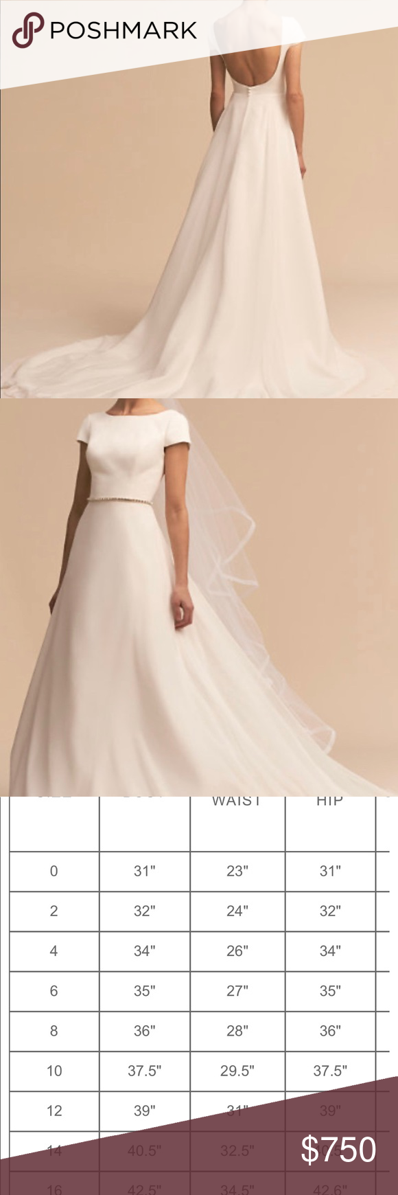 Photo of Whispers & Echoes Crest Gown by BHLDN Unaltered and only worn for a photo shoot…. – Plus Size Fashion & Dress