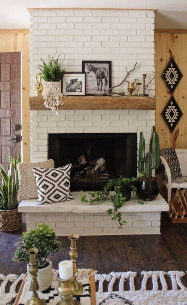 39 Modern Rustic Fireplace You Can Do It Brick fireplace