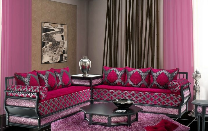 Salon marocain moderne arabesque pinterest salon - Photo de salon marocain moderne ...