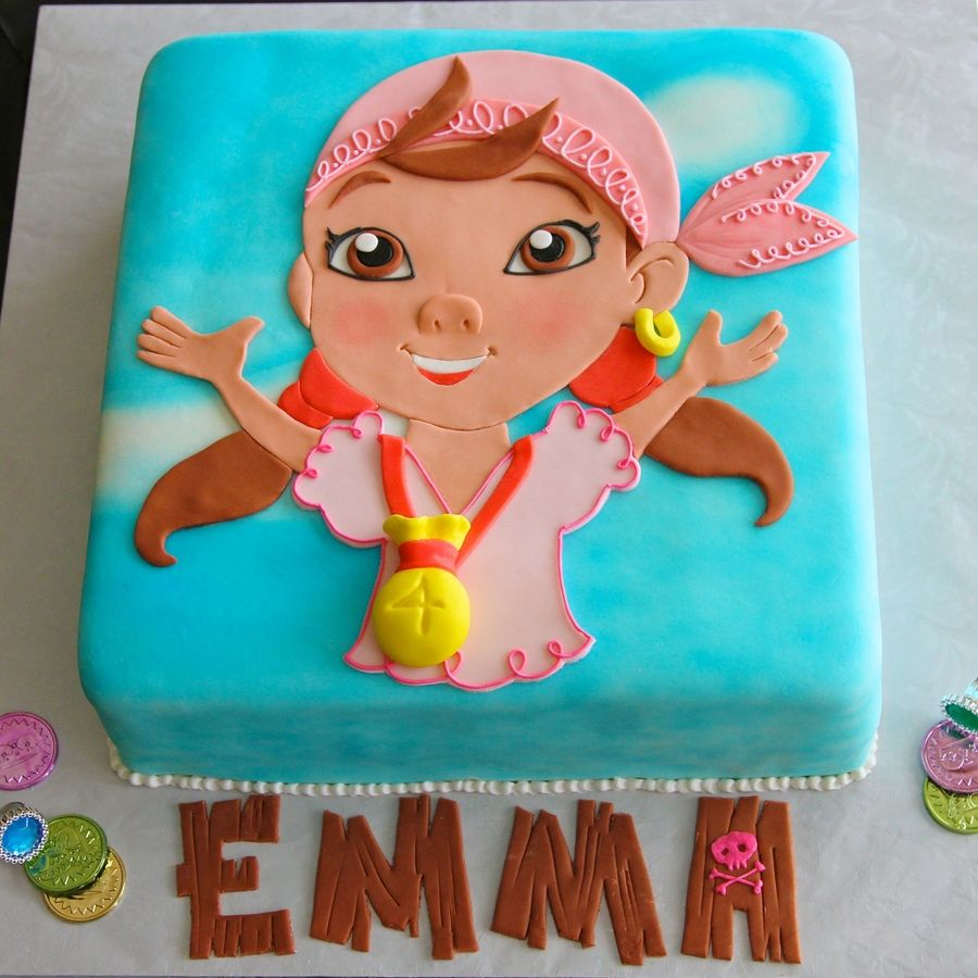 Cake ideas on pinterest pirate cakes marshmallow fondant and - Izzy Jake And The Neverland Pirates Cake Google Search