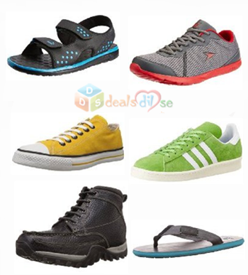 Upto 70% Off on Men's Footwear (Puma, Reebok, Woodlands, Converse,