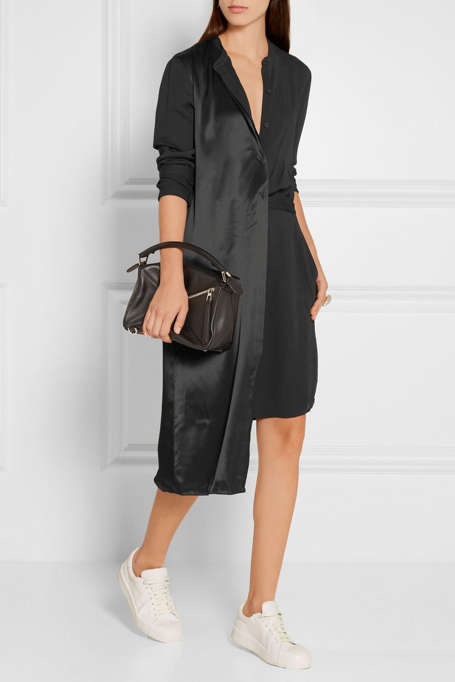 Prices Dkny Woman Pleated Wool-blend Dress Gray Size 0 DKNY Cheap Sale In China Comfortable Sale Online M9r87Fe