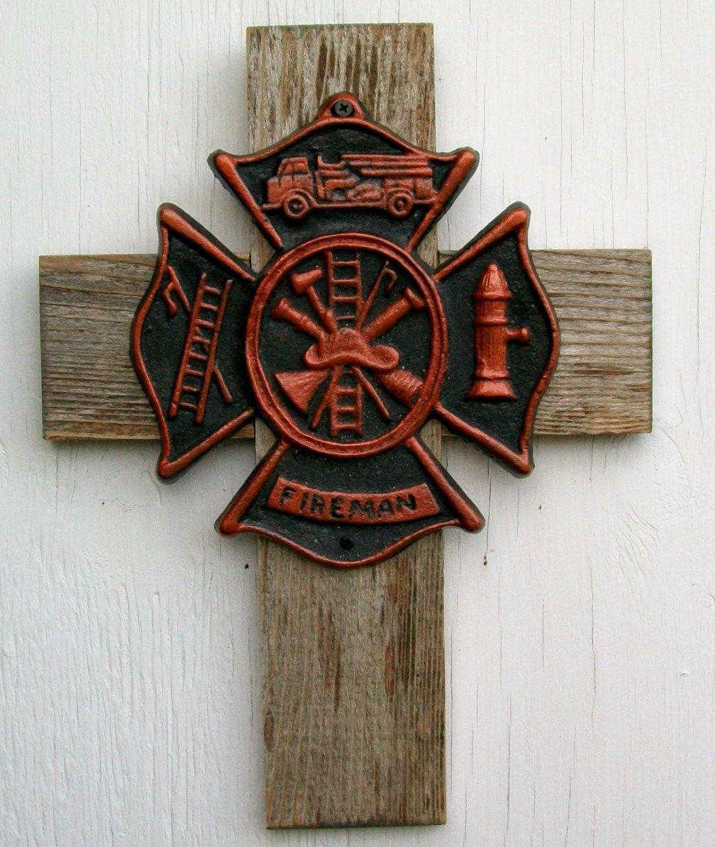Etonnant Fireman Maltese Cross Firefighter Gift Wall Home Decor