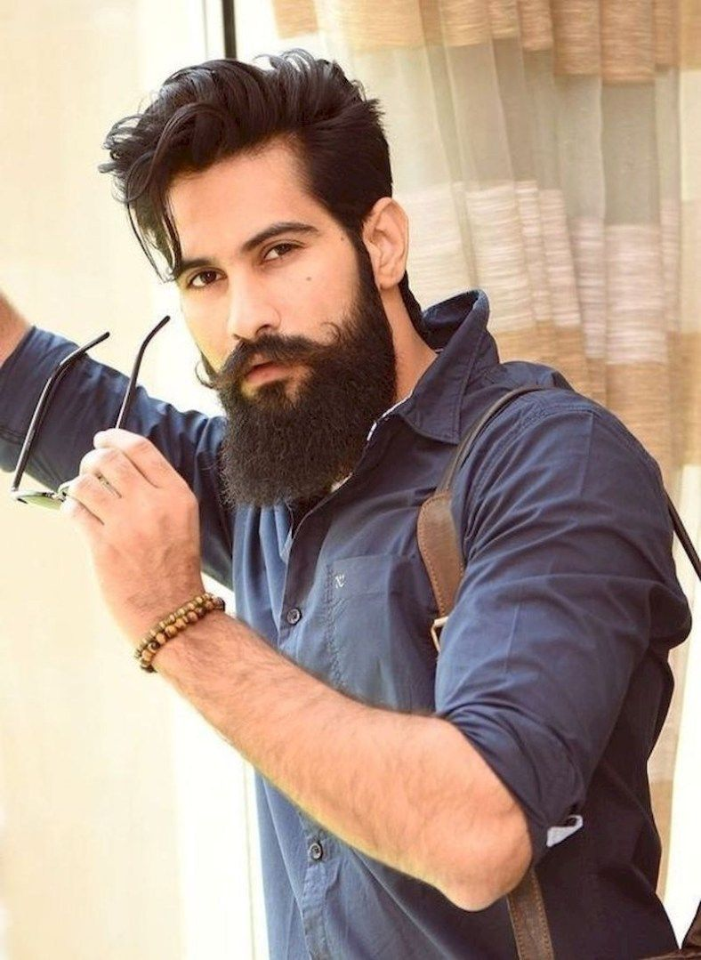 Long Beard With Long Soft Hair And Wearing A Shirt Beard And Mustache Styles Beard Hairstyle Beard No Mustache