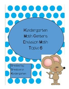 This center pack follows Envision Math Topic 6.  It is aligned with the Common Core and contains 5 different centers:  Groups of 10:   Students will match the groups of ten to the correct number on the card.  I can count to 30: students will put the number cards in order from 0-30.