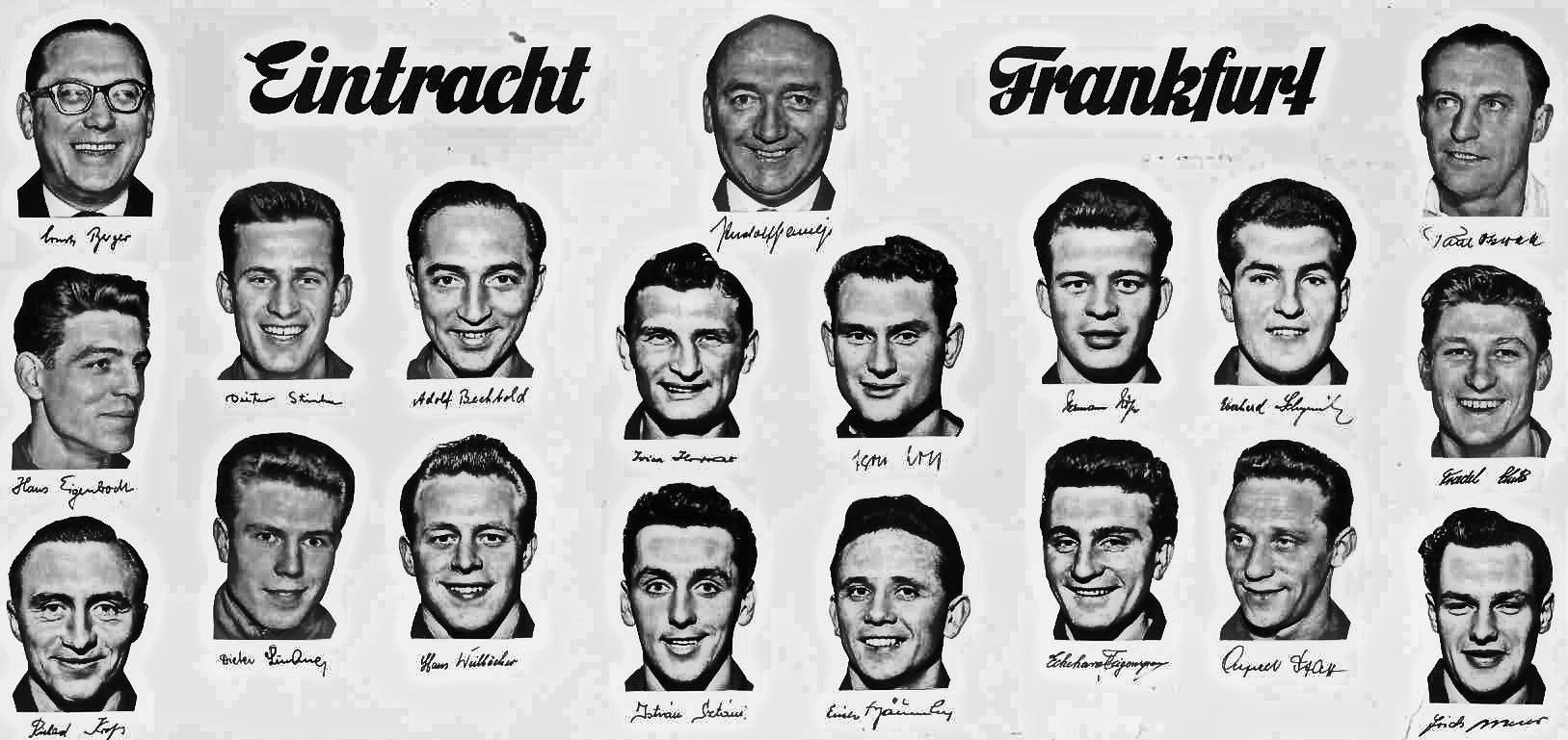Meistermannschaft 1959 Eintracht Frankfurt Eintracht Frankfurt Eintracht Fussball Bundesliga