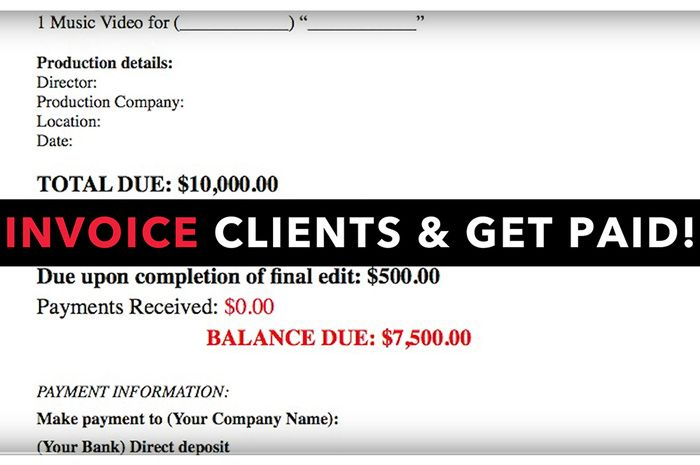 How to Build a Proper Invoice Template for Your Photography - music invoice